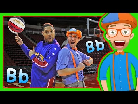 Thumbnail: Learn Letters for Toddlers with Blippi and the Globetrotters | The Letter B