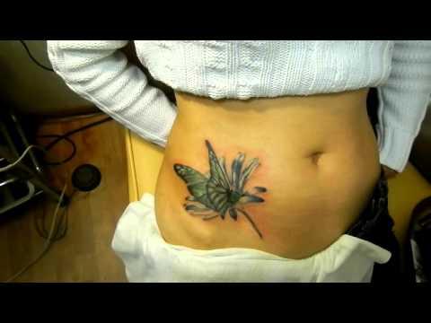 татуировка на шраме от аппендицита