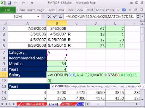 Excel Magic Trick 629 HR Salary Calculation Based On Relevant Years