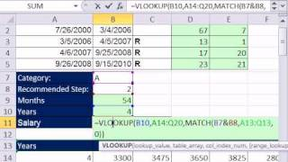 Excel Magic Trick 629: HR Salary Calculation Based On Relevant Years Worked (2 methods)