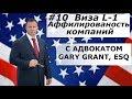 Виза L1 Аффилированость Компаний   Адвокат Gary Grant