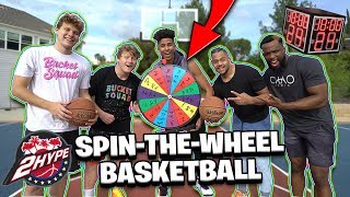 2Hype SPIN-THE-WHEEL Timed Basketball Challenge!