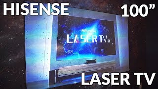 "Hisense 100"" 4K Laser Projection TV"