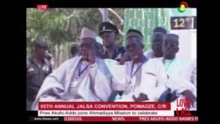 Ghana's President Attending 85th Jalsa Salana Ghana 2017