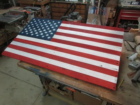 American Flag from Reclaimed Pallet