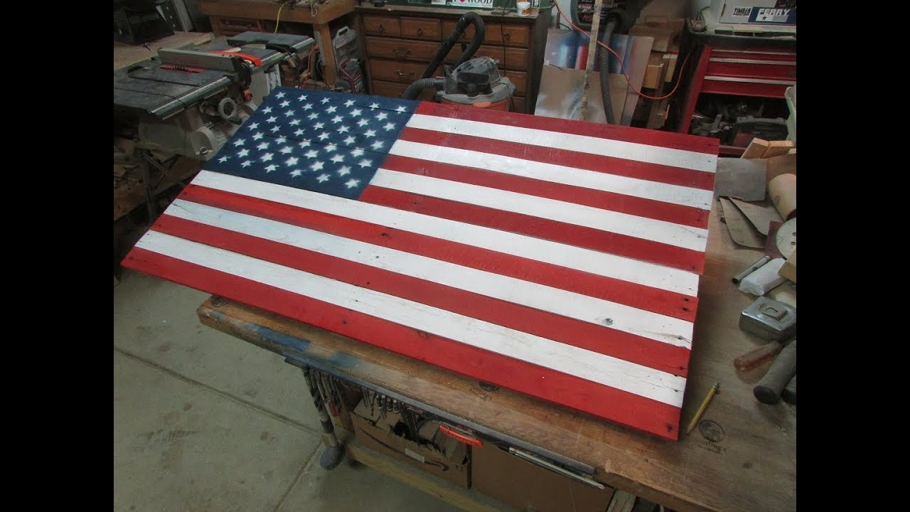 870936e07de3 American Flag from Reclaimed Pallet - YouTube
