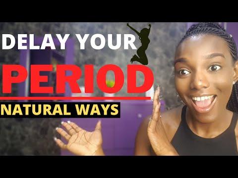 To postpone periods natural way