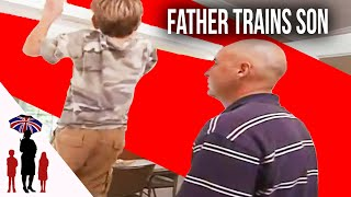 Young Boys Become Rude & Aggressive When Dad Makes them Lift Rocks to be Strong | Supernanny