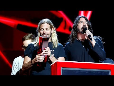 Foo Fighters react to their BRIT win | The BRIT Awards 2018
