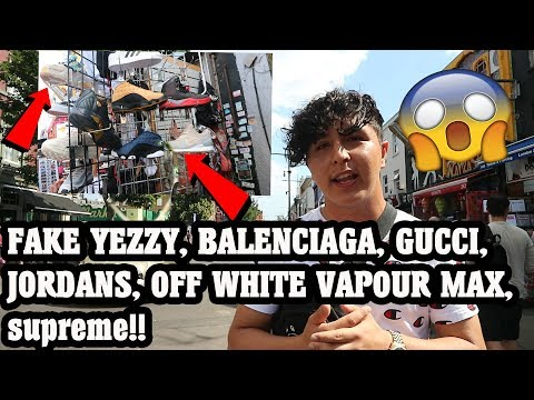 Thrift Shopping In Camden Town |Found Fake Yezzy' Gucci' Louis Vuitton' Off White!!