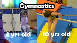 bethany g doing gymnastics at 4 10 years old