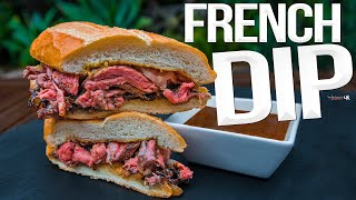 Ultimate French Dip Steak Sandwich | SAM THE COOKING GUY 4K