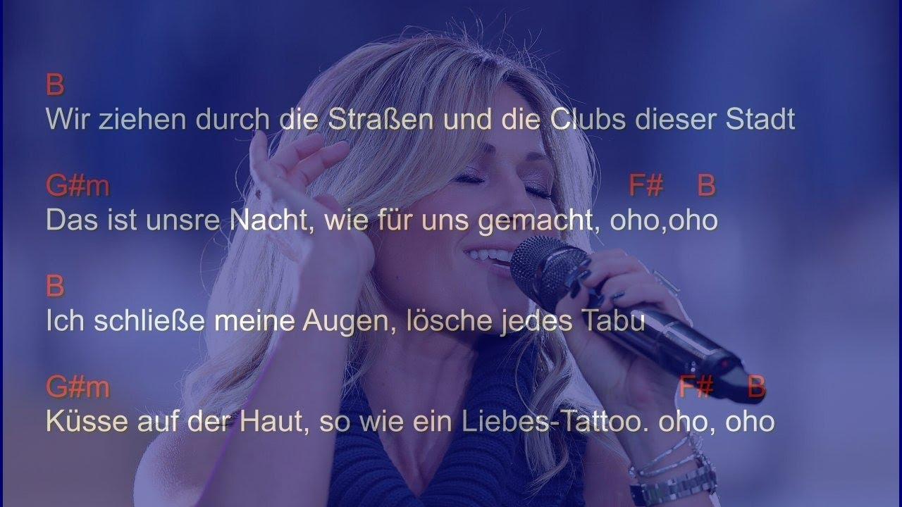 Helene Fischer Atemlos Chords And Lyrics Youtube