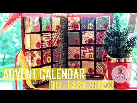 DIY - ADVENT CALENDAR with easy steps and Gift Box Tutorial. (DCWV & Little Birdie)