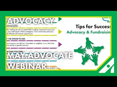 May Advocate Webinar: Walking the Talk