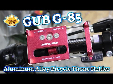GUB G-85 Aluminum Alloy Bicycle Phone Holder Review
