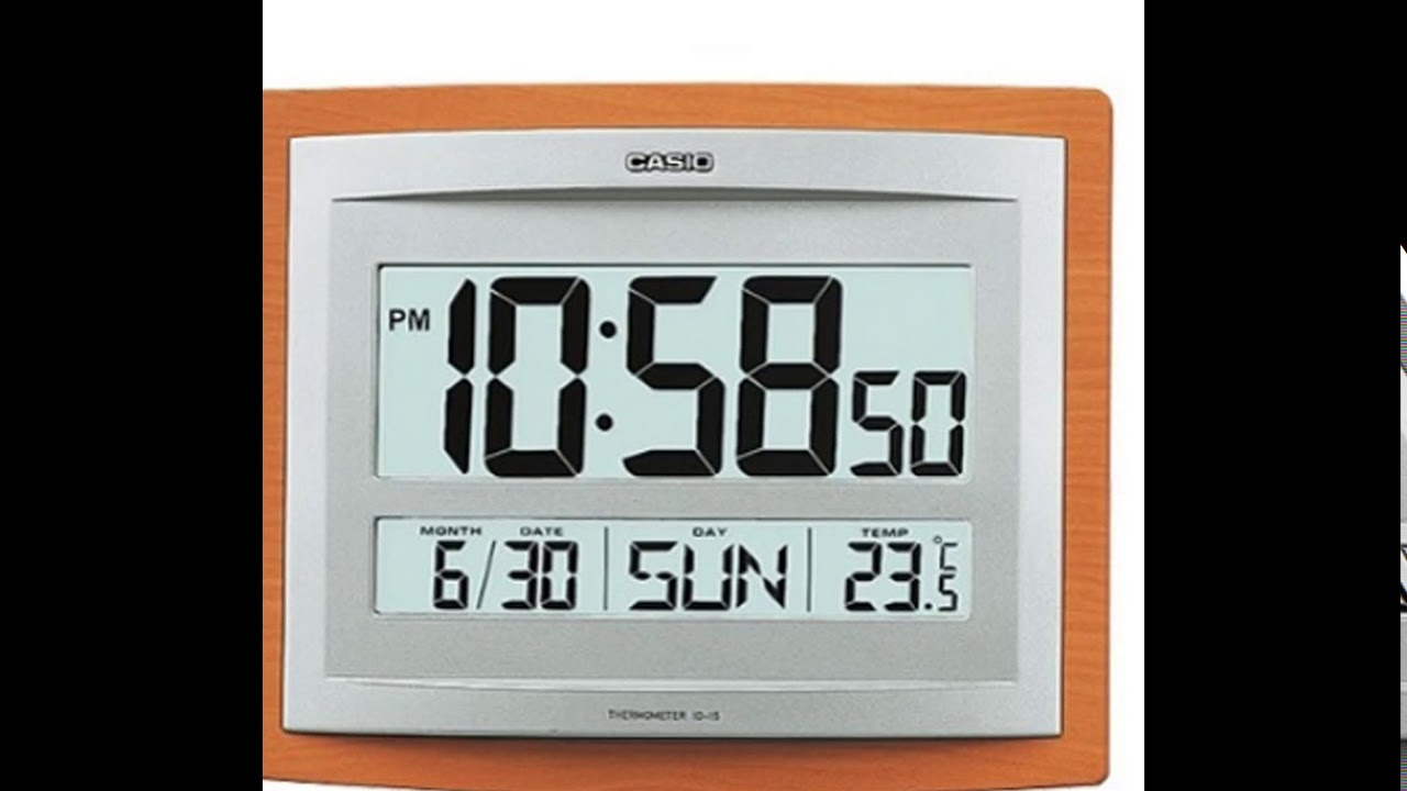 el precio más bajo 9259b baa8f Reloj De Pared Casio Original Temperatura - Fecha - Alarma