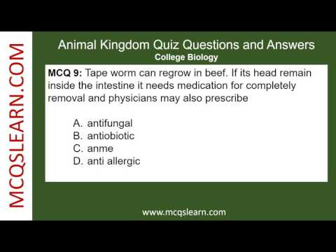 Animal Kingdom Quiz Questions and Answers - MCQsLearn Free