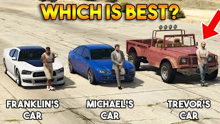 GTA 5 ONLINE : FRANKLIN VS MICHAEL VS TREVOR (WHICH IS BEST MAIN CHARACTER'S CAR?)