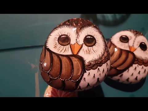 Quiet little owl by Rachel's Rocks