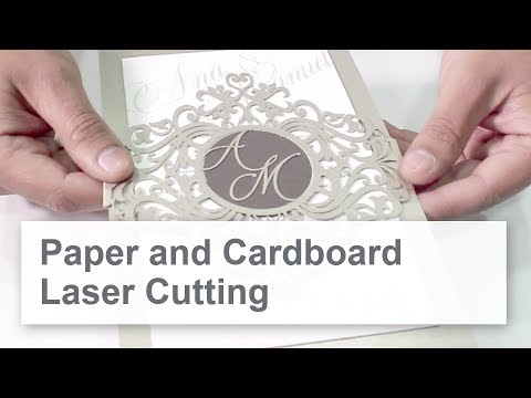 Paper Cutting with a Laser - Create Unique Designs with Intricate Details