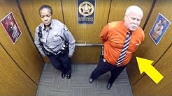 Cops Thought They Were Alone In Elevator, Doesn't Know Hidden Camera Is Recording His Every Move