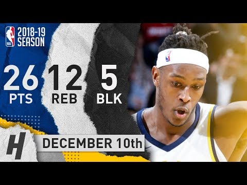 Myles Turner Full Highlights Pacers vs Wizards 2018.12.10 - 26 Pts, 12 Reb, 5 Blocks!