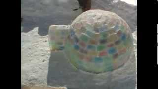 Coloured Ice Block Igloo