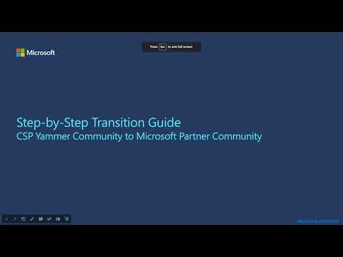 CSP Community Walkthrough
