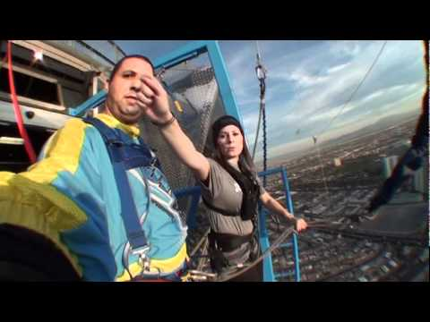 Damon\u0027s Sky Jump from the Stratosphere Hotel and Casino, January