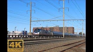 ⁴ᴷ High Speed Amtrak & Transit At Linden On The Northeast Corridor On Veterans Day
