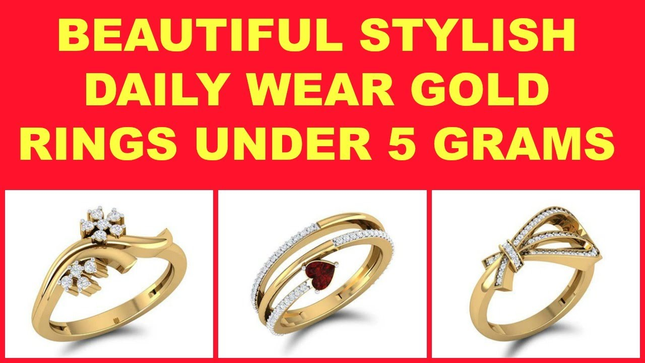 Daily Wear Gold Rings Under 5 Grams For Women - YouTube