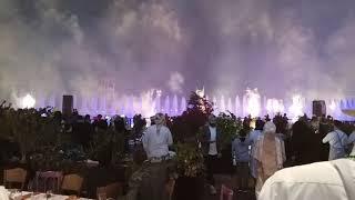 Happy new year 2018 | Sharjah Al majaj water front | water show