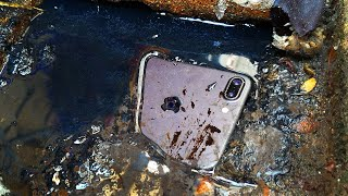 Daughter dropped iPhone 7 plus in sewage, Dirty​ and Wet what happened inside?