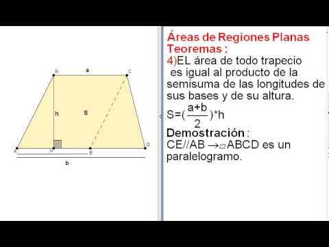 Rea de un trapecio con su demostraci n youtube for Como hacer un sobre rectangular