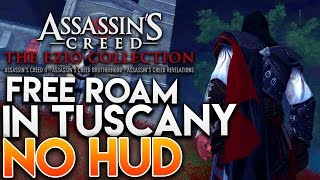 assassin s creed the ezio collection   free roam in tuscany with no hud exploring ac2 remastered