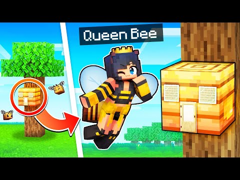 protecting-my-hive-as-the-queen-bee-in-minecraft!