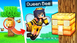 Protecting My Hive As The QUEEN BEE In Minecraft!