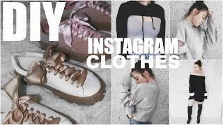 DIY INSTAGRAM CLOTHES | 5 EASY Trendy Fashion DIY