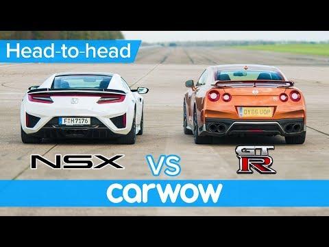 Honda Acura NSX vs Nissan GTR DRAG & ROLLING RACE + BRAKE TEST  HeadtoHead