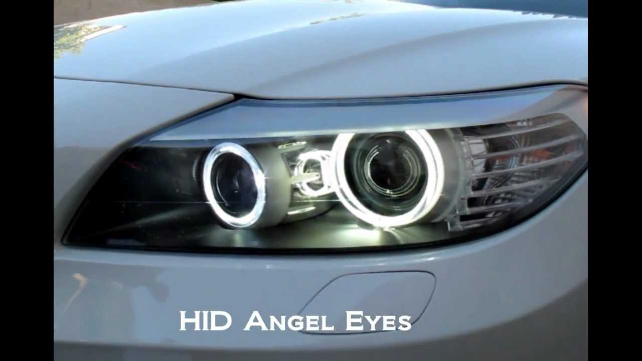 The Magnificent Hid Angel Eyes For Bmw Z4 Way Brighter Than Led Youtube