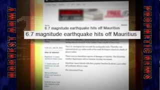 Apocalyptic EARTHQUAKE SWARM - - THE EAST - - MAURITIUS 6.7 July 26, 2012. Prediction