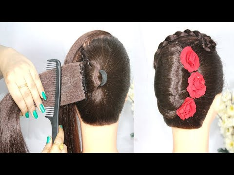 2 minute Very easy French bun Hairstyle Trick || French roll || french twist || new hairstyle thumbnail