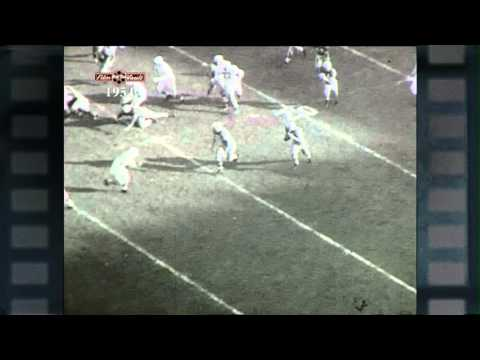 """Big Ten Film Vault: 1954 Yearbook - Howard """"Hopalong"""" Cassady 88-Yard Interception Touchdown"""