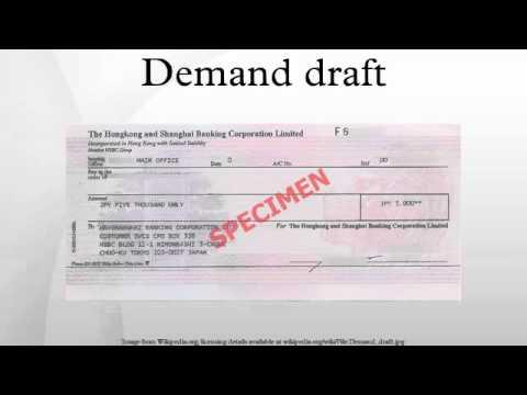 Demand Draft Dd Doovi