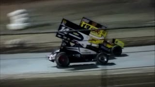 Tony Stewart and Jason Leffler in (Heat Race 2) In Ocala, Florida