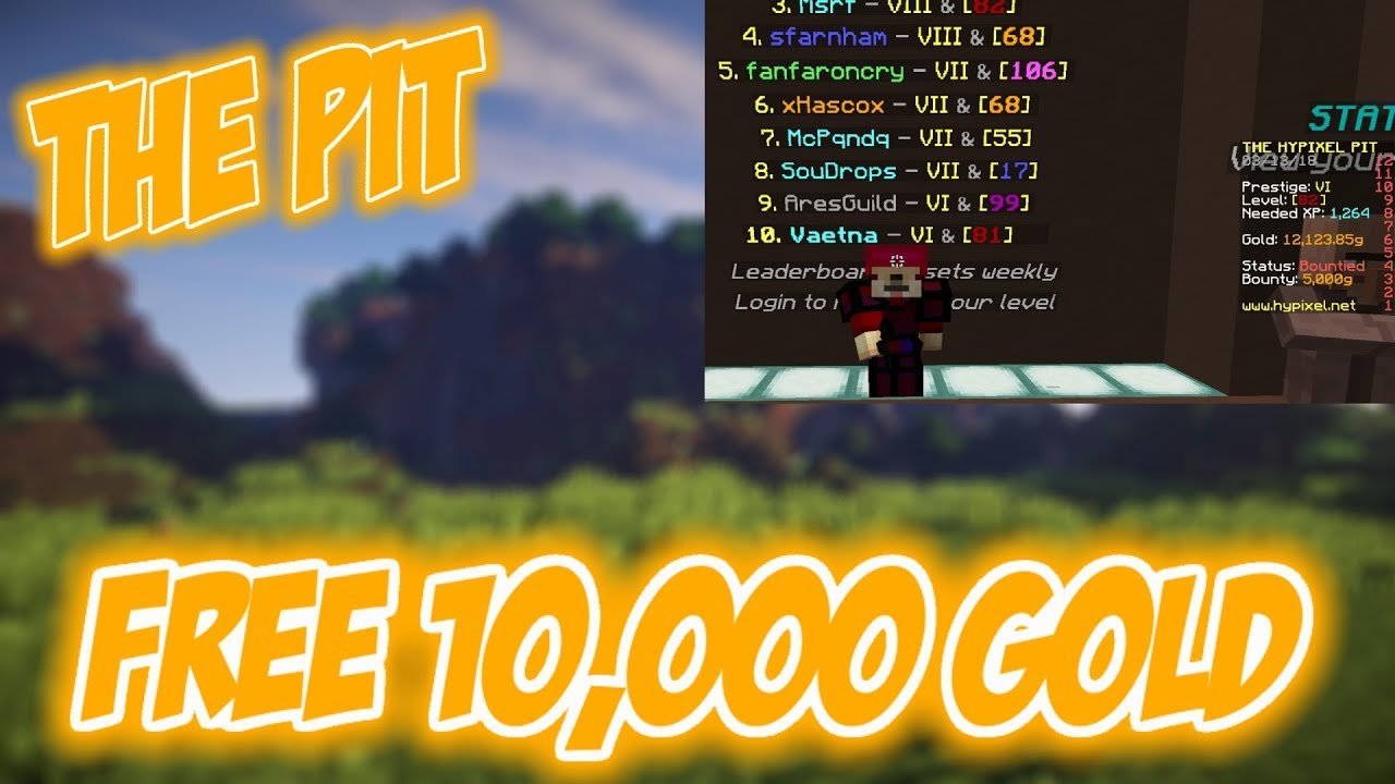 The Pit - How To get 10,000 Gold For Free | Hypixel