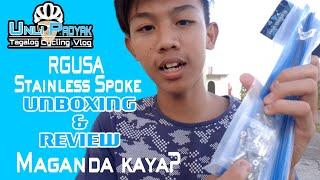 RAGUSA STAINLESS SPOKE | UNBOXING & REVIEW , MAGANDA KAYA? - UNLI PADYAK