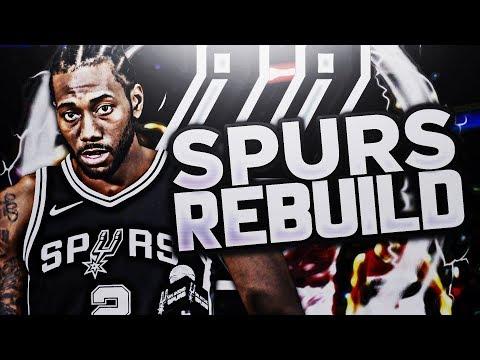 TRADING THE #1 PICK!! SA SPURS REBUILD!! NBA 2K18