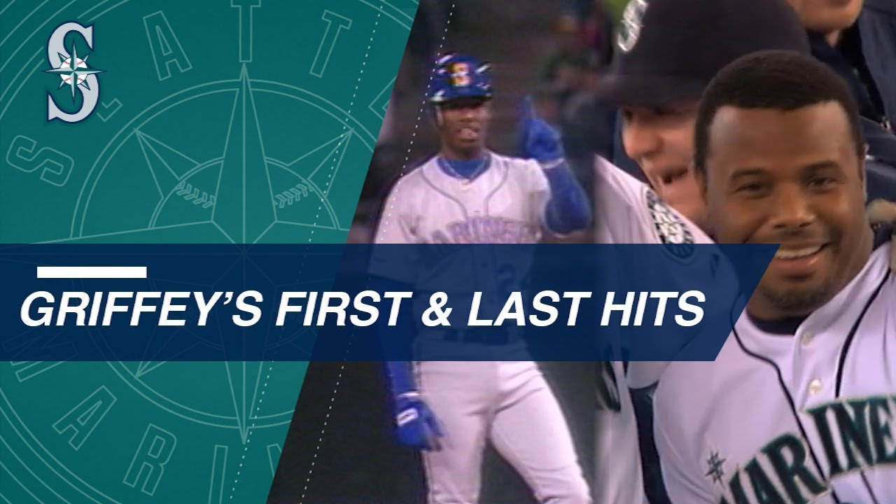 1fc7095388 A look at Ken Griffey Jr.'s first and last MLB hits - YouTube